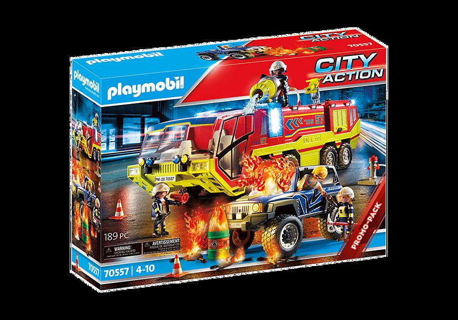 70557 Camion de pompiers et véhicule enflammé detail image 2