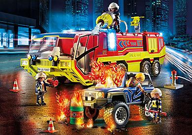 70557 Camion de pompiers et véhicule enflammé