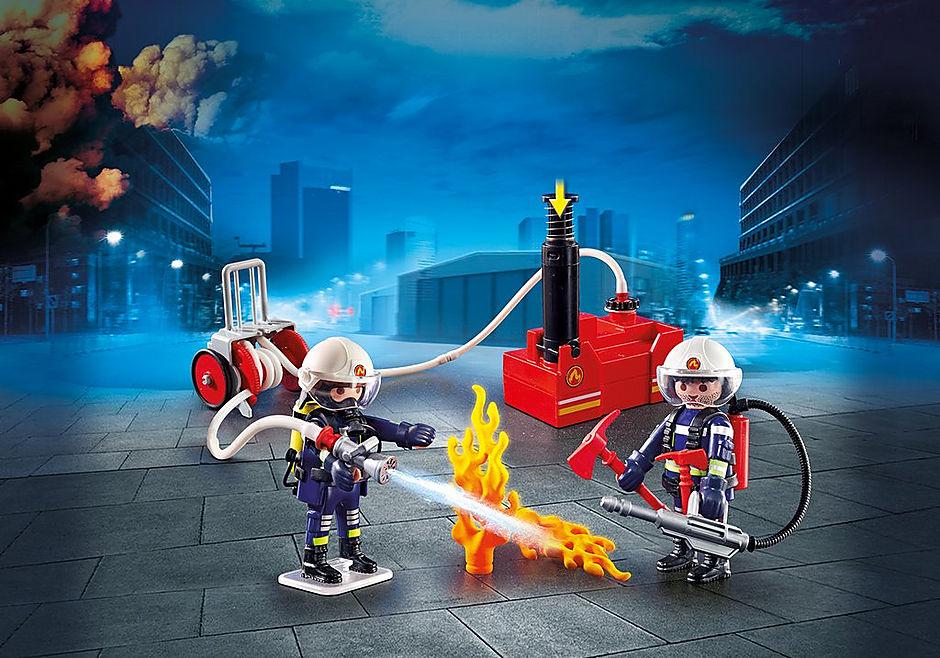 70557 Brandweer met brandweerwagen detail image 4