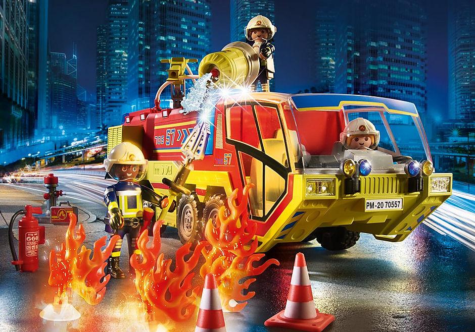 70557 Camion de pompiers et véhicule enflammé detail image 5