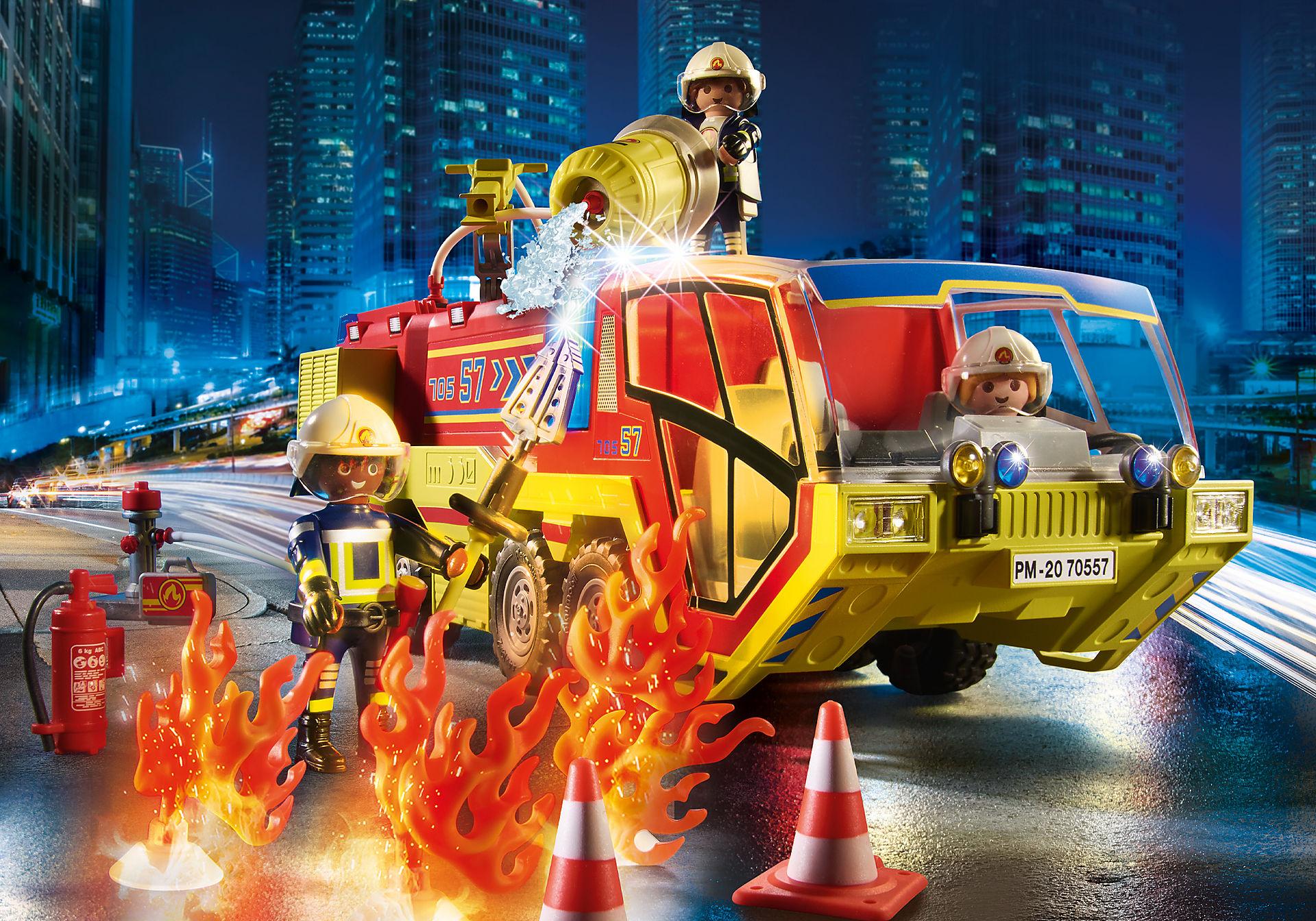 70557 Camion de pompiers et véhicule enflammé zoom image5
