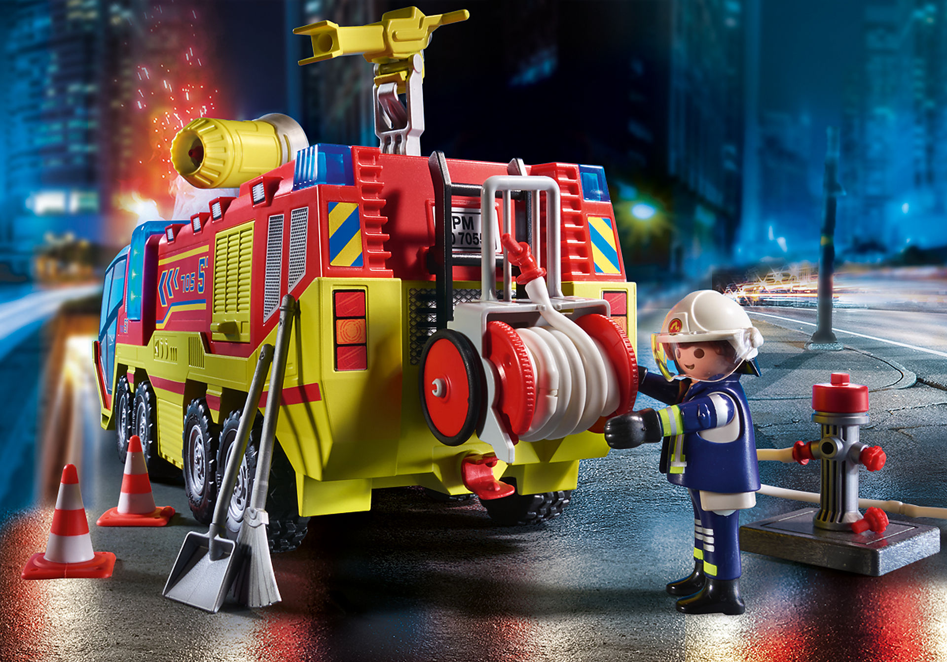70557 Camion de pompiers et véhicule enflammé  zoom image6