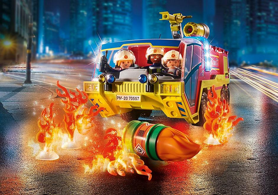 70557 Camion de pompiers et véhicule enflammé detail image 7