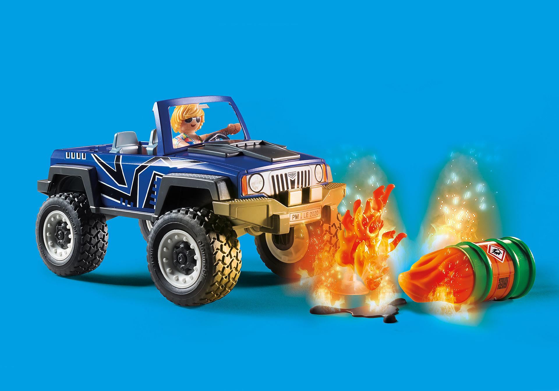 70557 Camion de pompiers et véhicule enflammé  zoom image8