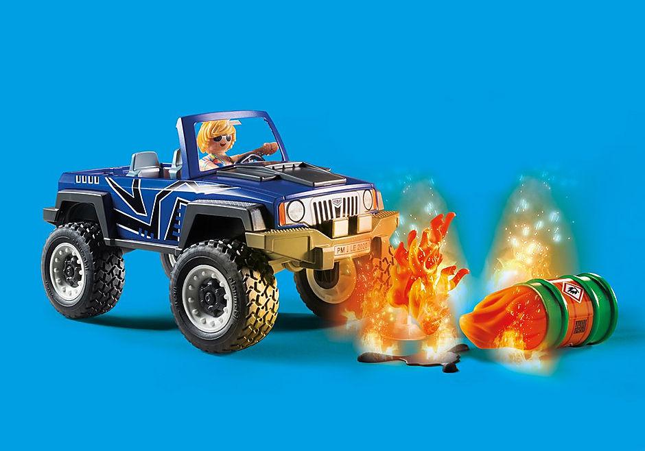 70557 Camion de pompiers et véhicule enflammé detail image 8