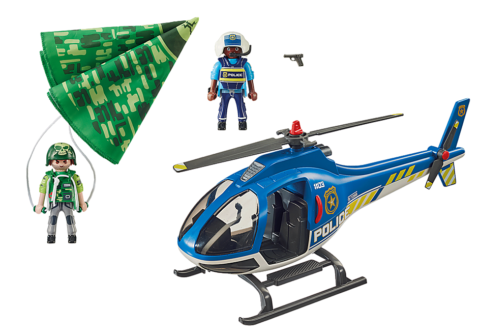 70569 Hélicoptère de police et parachutiste detail image 3