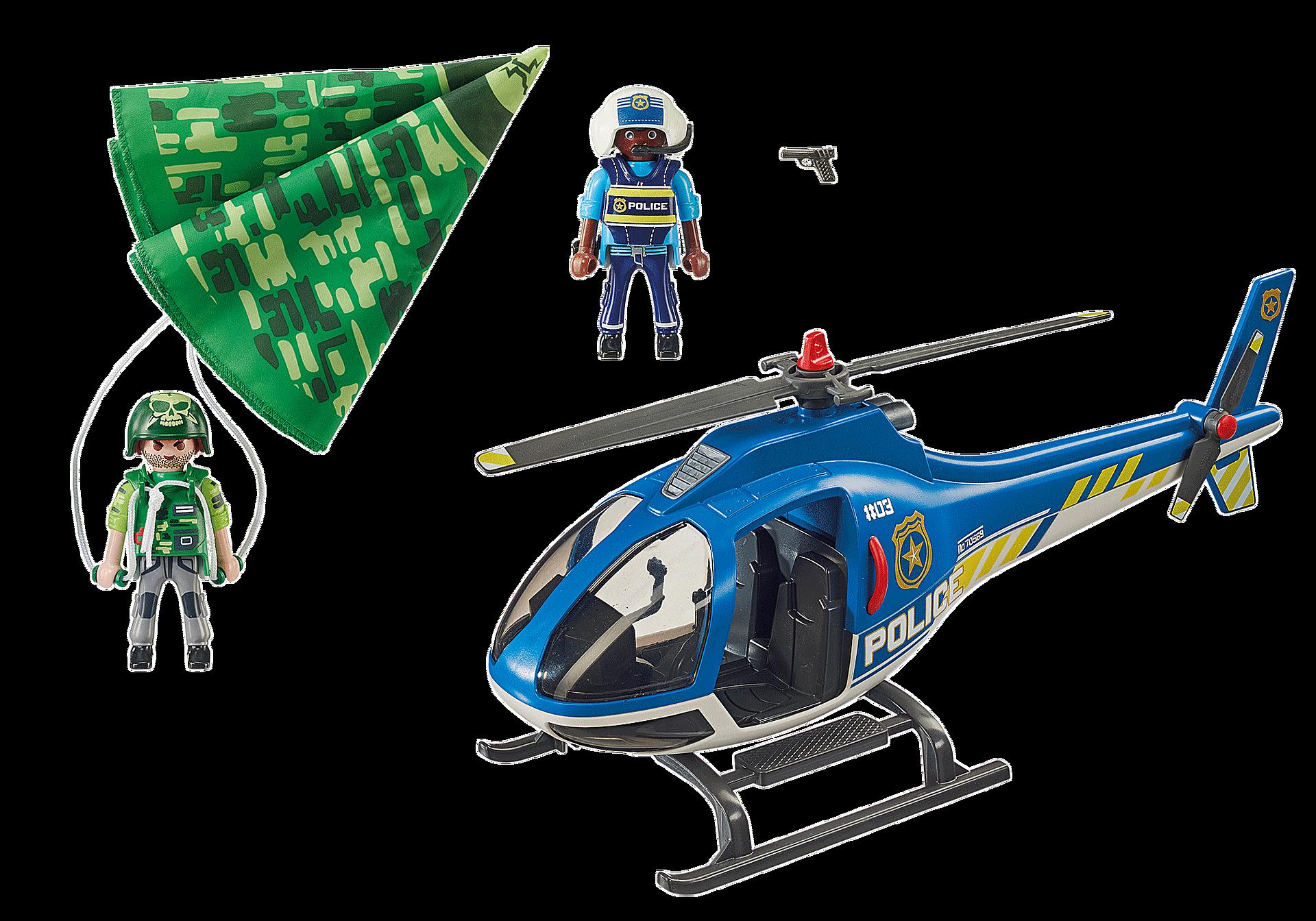 70569 Hélicoptère de police et parachutiste zoom image3