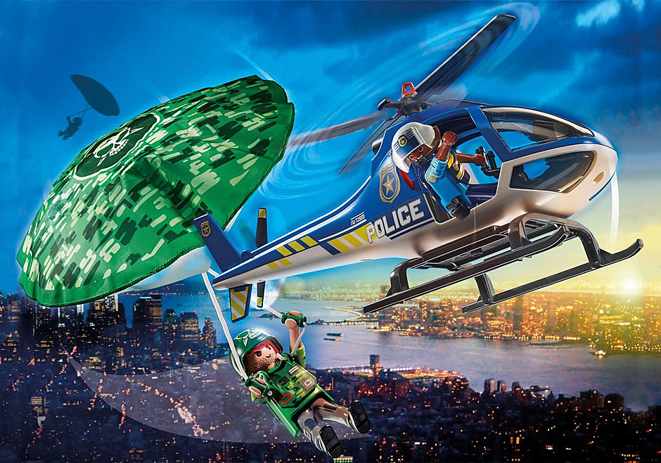 70569 Polizei-Hubschrauber: Fallschirm-Verfolgung detail image 1