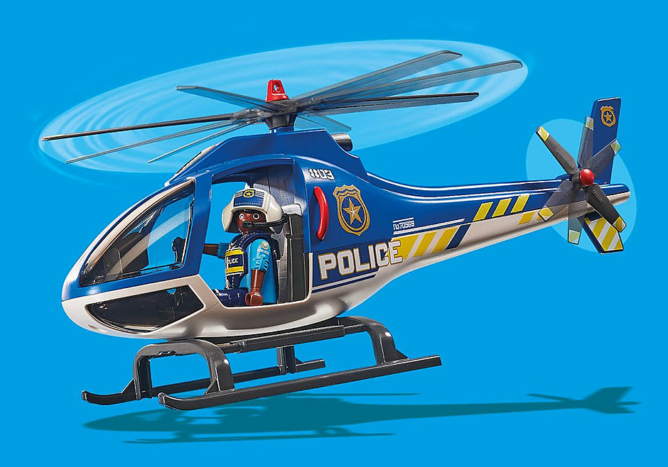 70569 Polizei-Hubschrauber: Fallschirm-Verfolgung detail image 7