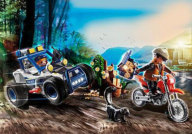 70570 Veículo Todo o terreno da Polícia: Perseguição do ladrão de tesouros.