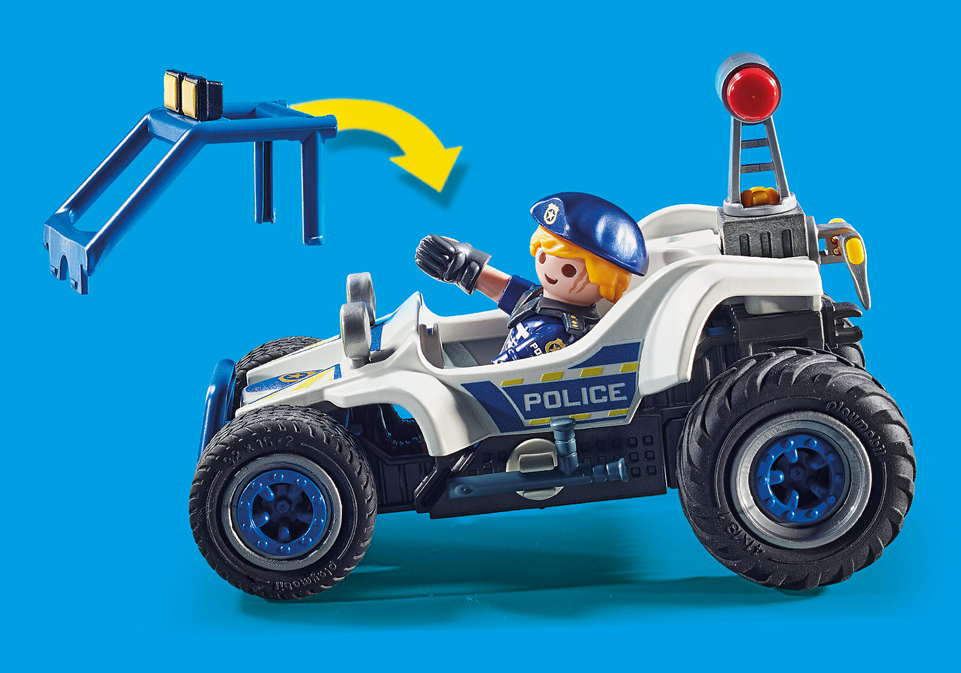 70570 Policier avec voiturette et voleur à moto  zoom image5