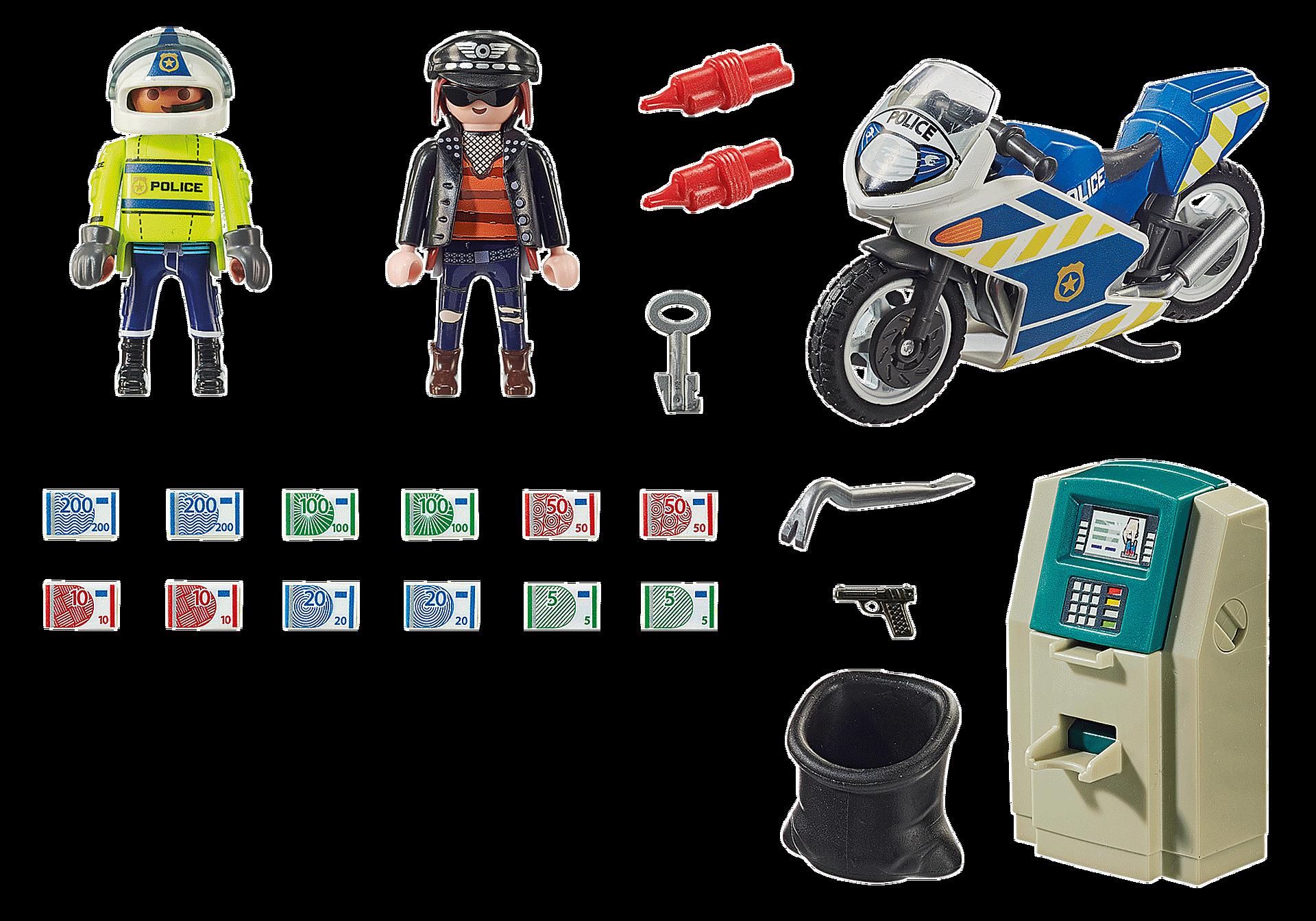 70572 Moto de Policía: persecución del ladrón de dinero zoom image3