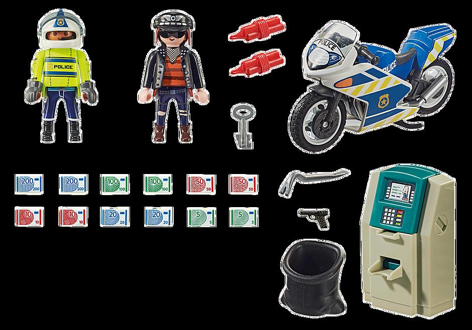 70572 Police Policier avec moto et voleur detail image 3