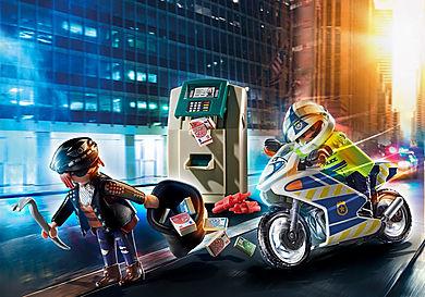 70572 Policier avec moto et voleur