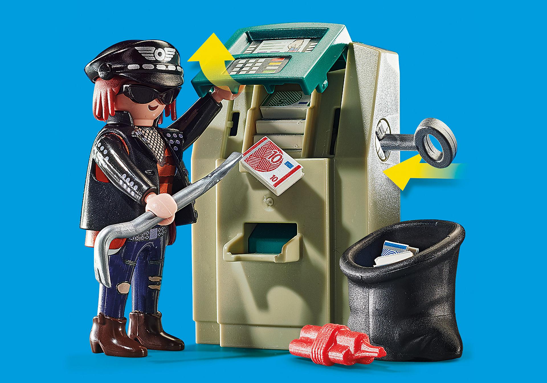 70572 Moto de Polícia: Perseguição do ladrão de dinheiro zoom image4