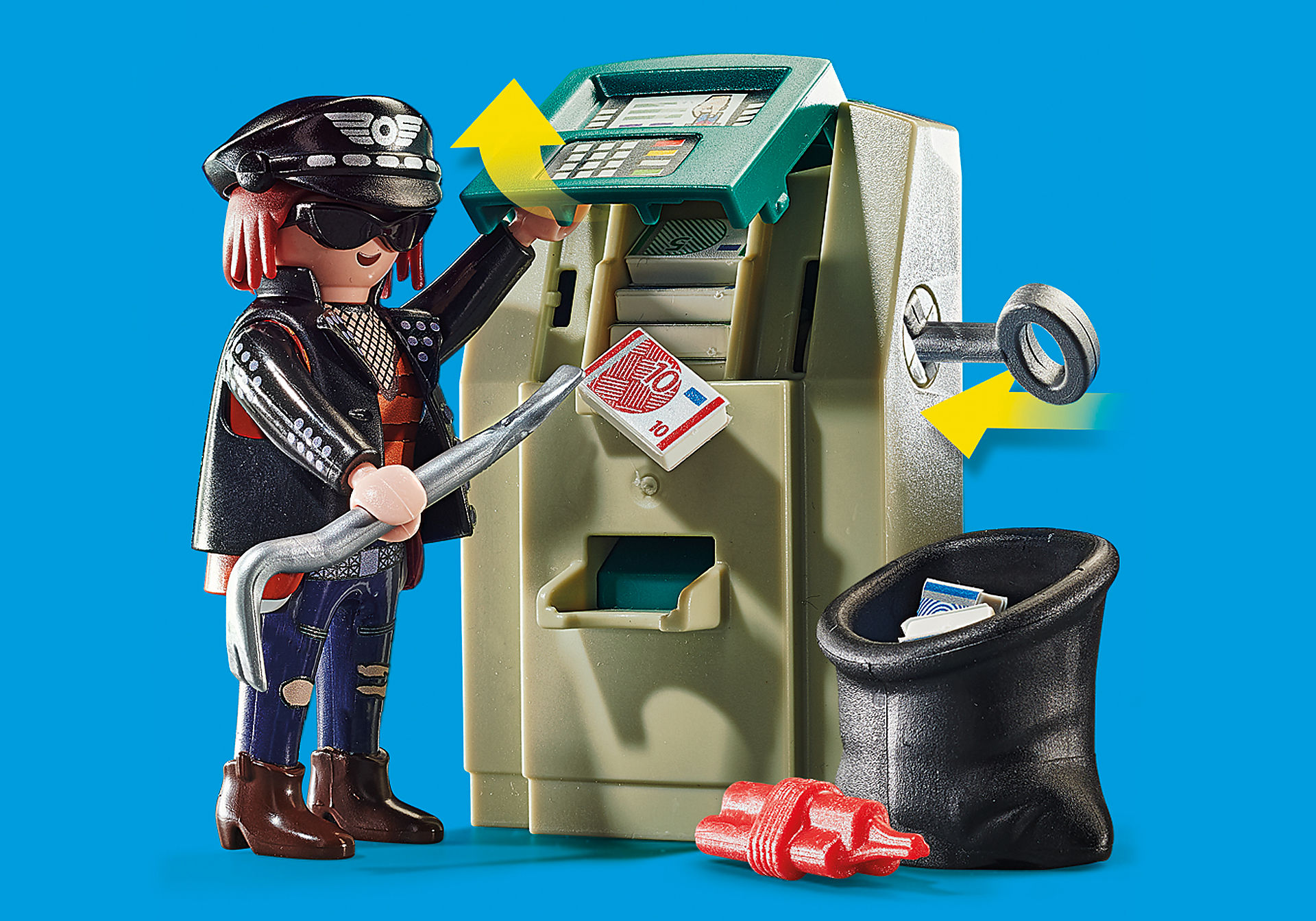 70572 Politiemotor: achtervolging van de geldrover zoom image4