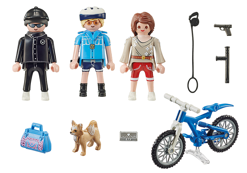 70573 Police Bicycle with Thief detail image 3