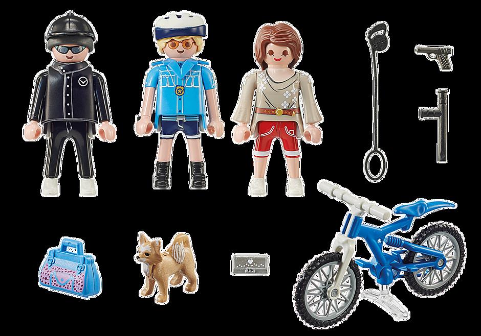 70573 Poliziotto in bici e borseggiatore detail image 3