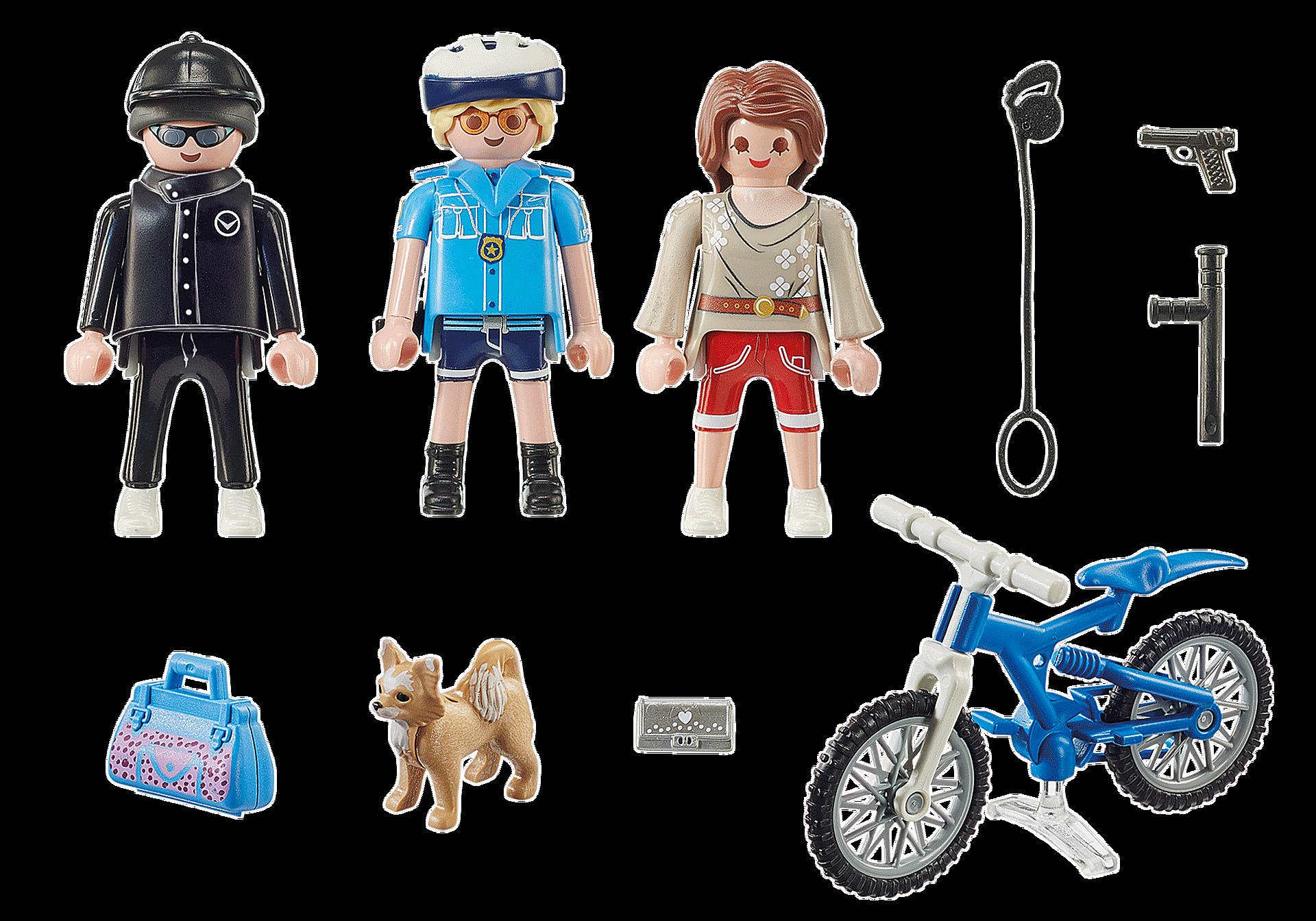 70573 Poliziotto in bici e borseggiatore zoom image3