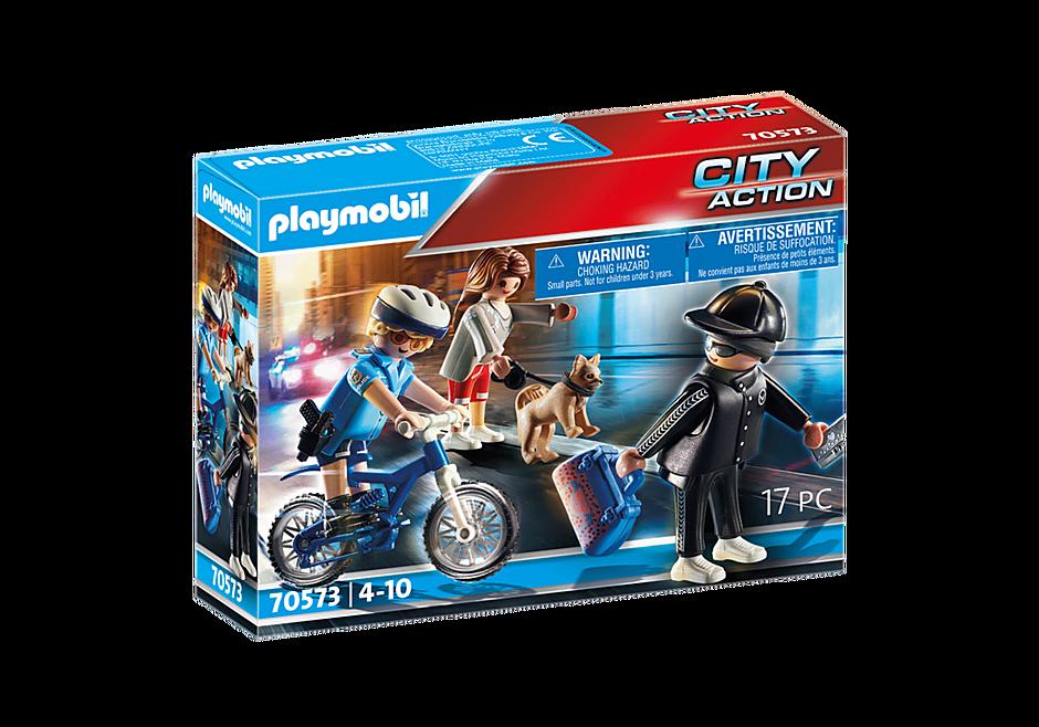 70573 Poliziotto in bici e borseggiatore detail image 2
