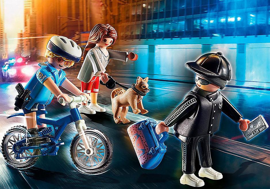 70573 Poliziotto in bici e borseggiatore detail image 1
