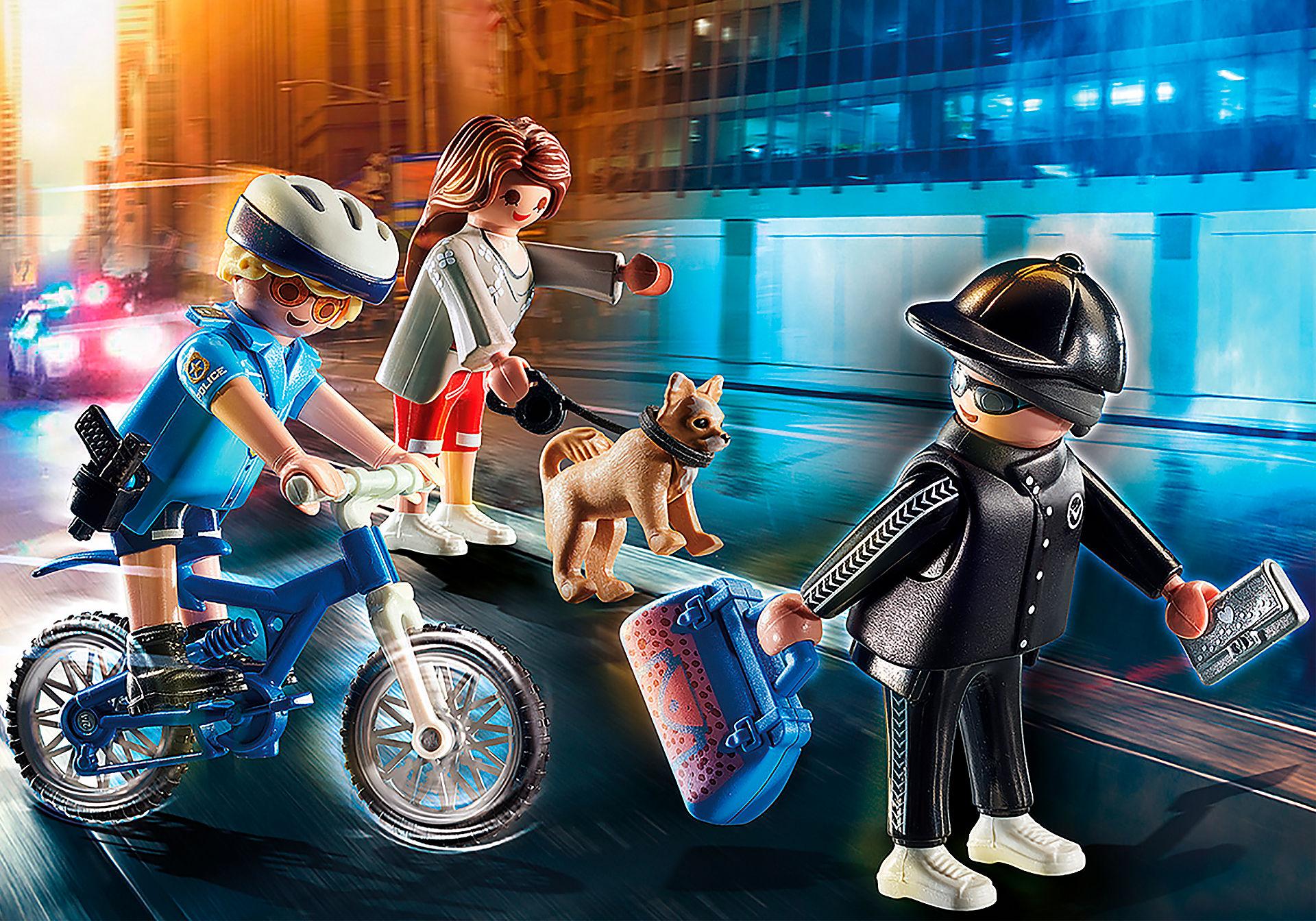 70573 Poliziotto in bici e borseggiatore zoom image1