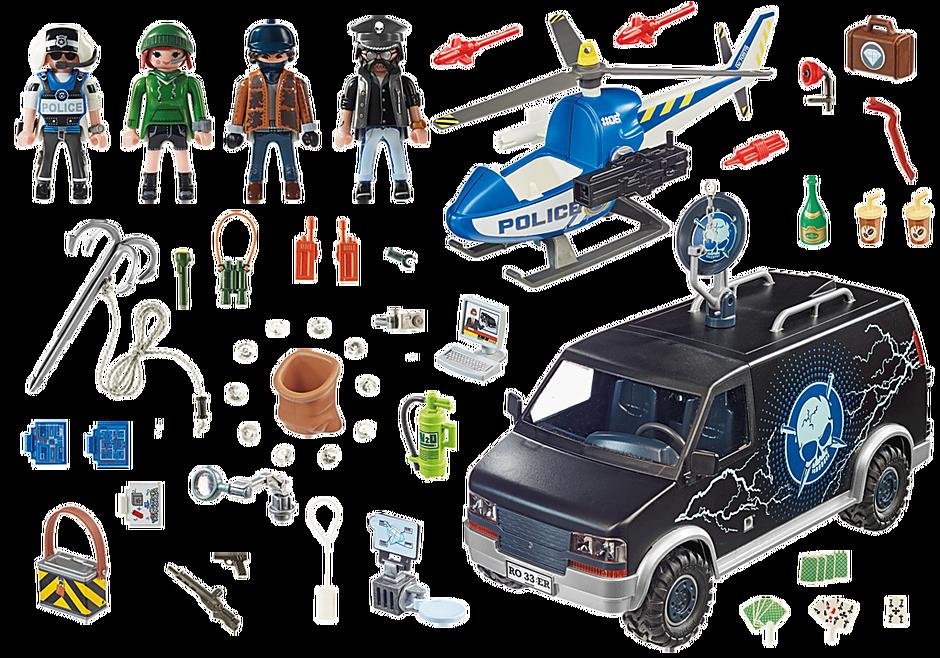70575 Police Camion de bandits et policier detail image 3