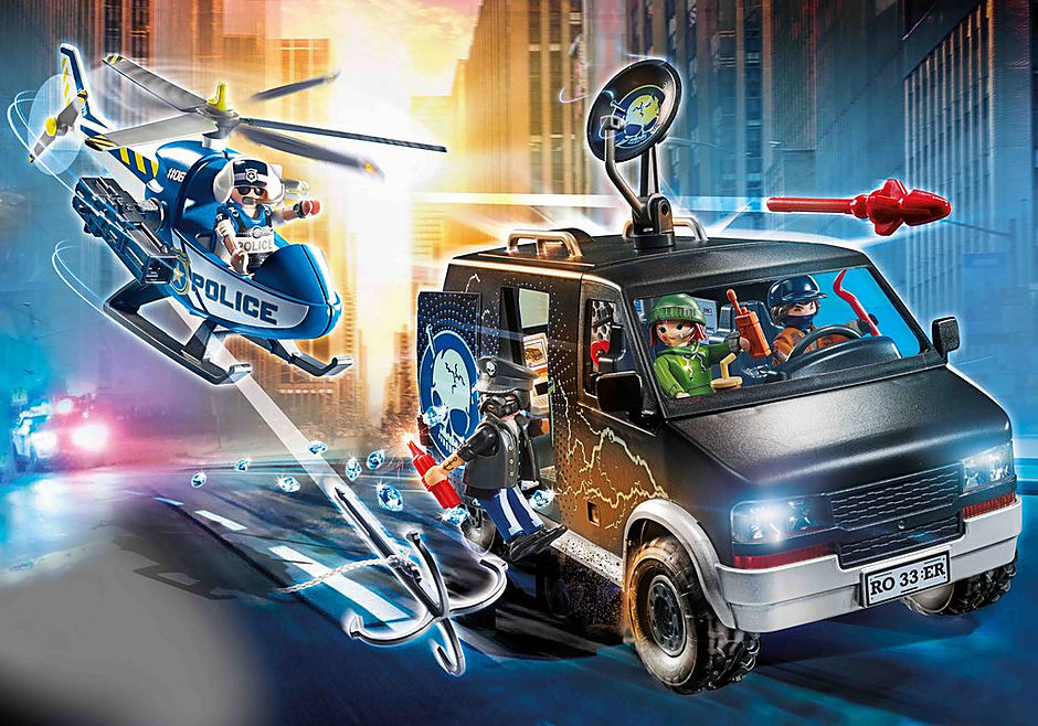 70575 Helicopter Pursuit with Runaway Van detail image 1