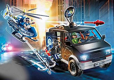 70575 Policyjny helikopter: Pościg za uciekającym samochodem