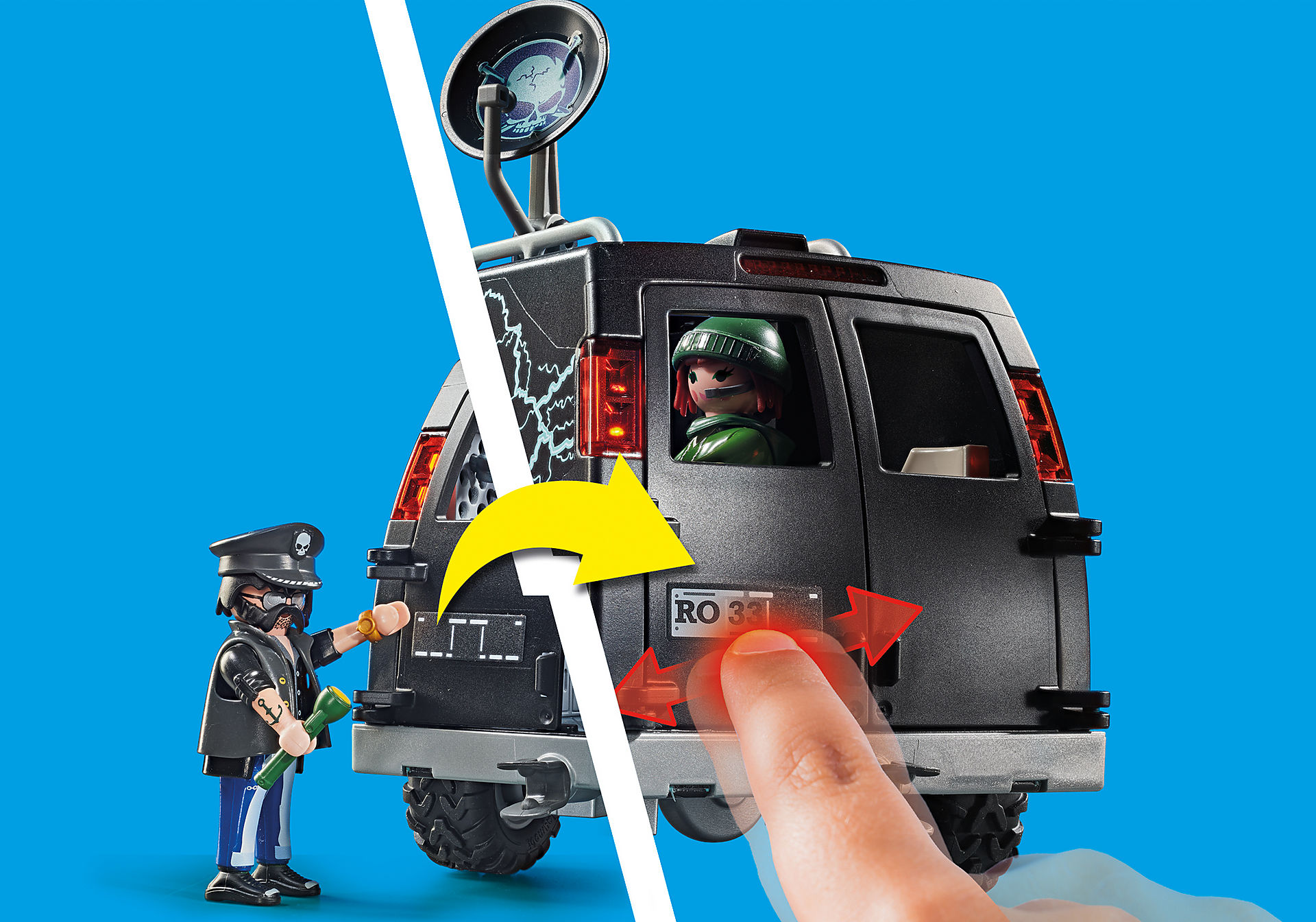 70575 Policyjny helikopter: pościg za uciekającym samochodem zoom image5