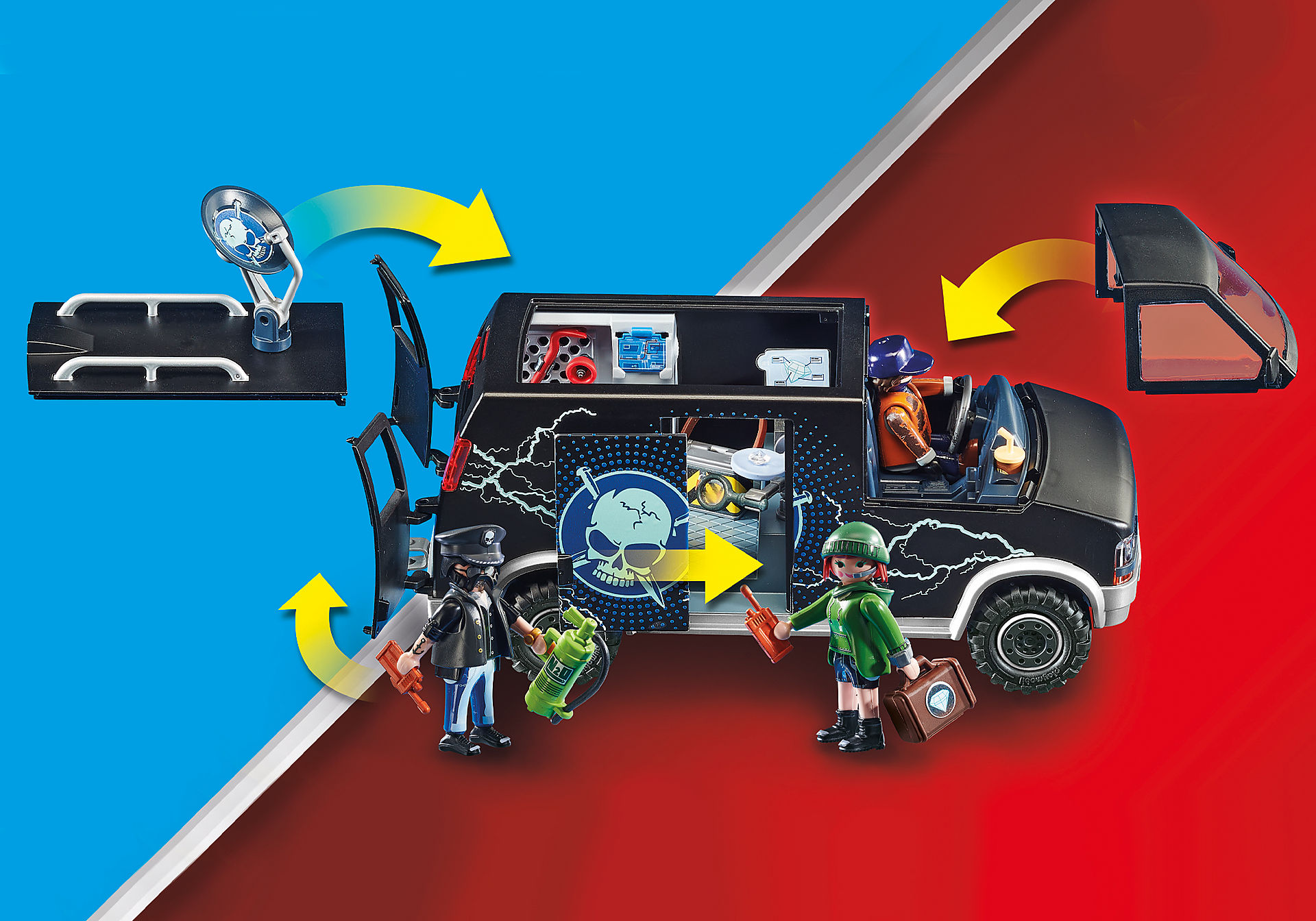 70575 Police Camion de bandits et policier zoom image7