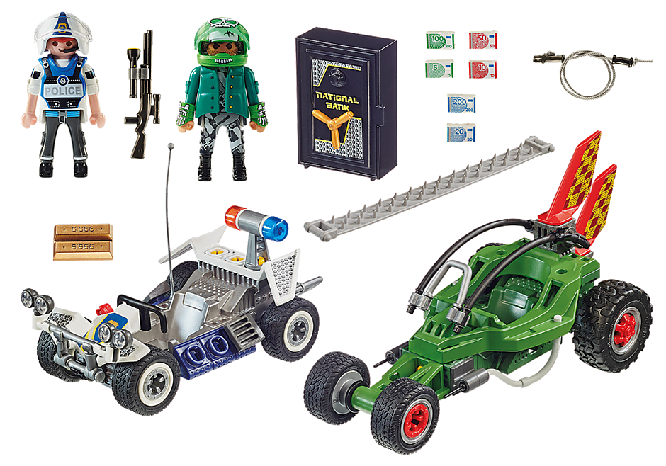 70577 Kart Policial: Perseguição ao ladrão da caixa forte detail image 3