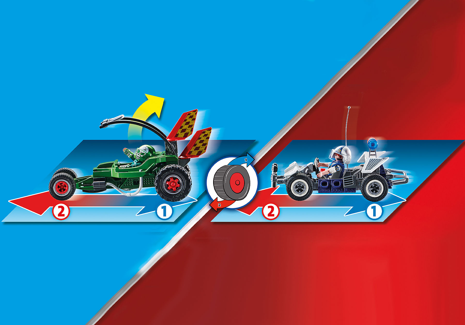 70577 Kart Policial: Perseguição ao ladrão da caixa forte zoom image5