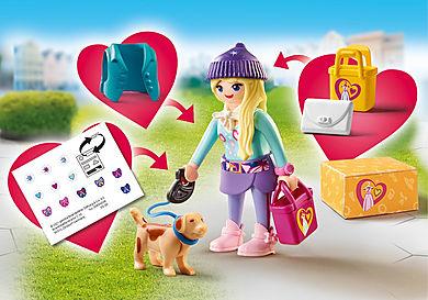 70595 Chica Fashion con Perro