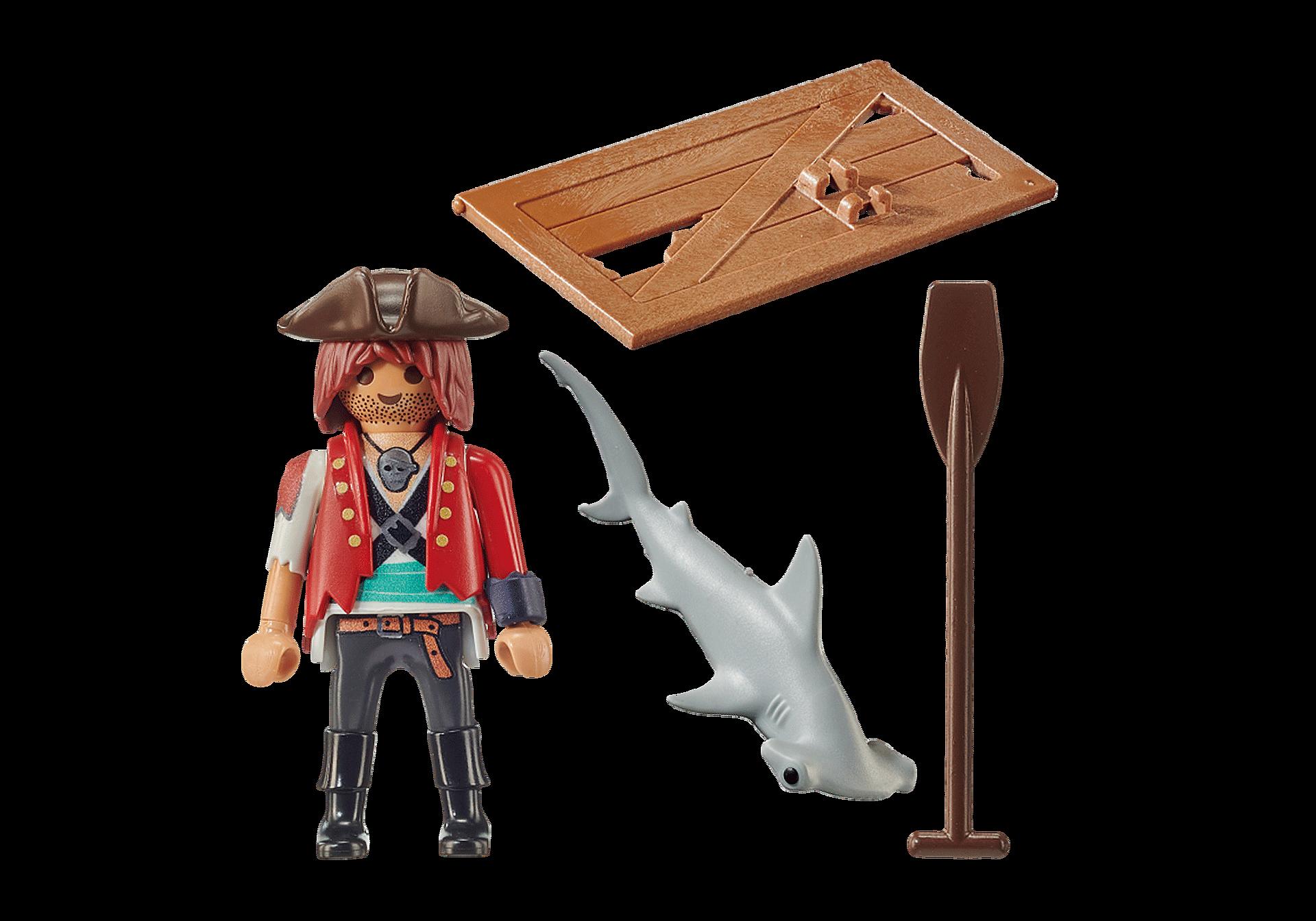 70598 Pirat med tømmerflåde og hammerhaj zoom image3
