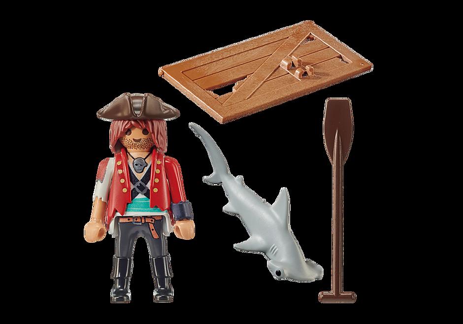 70598 Pirat mit Floß und Hammerhai detail image 3
