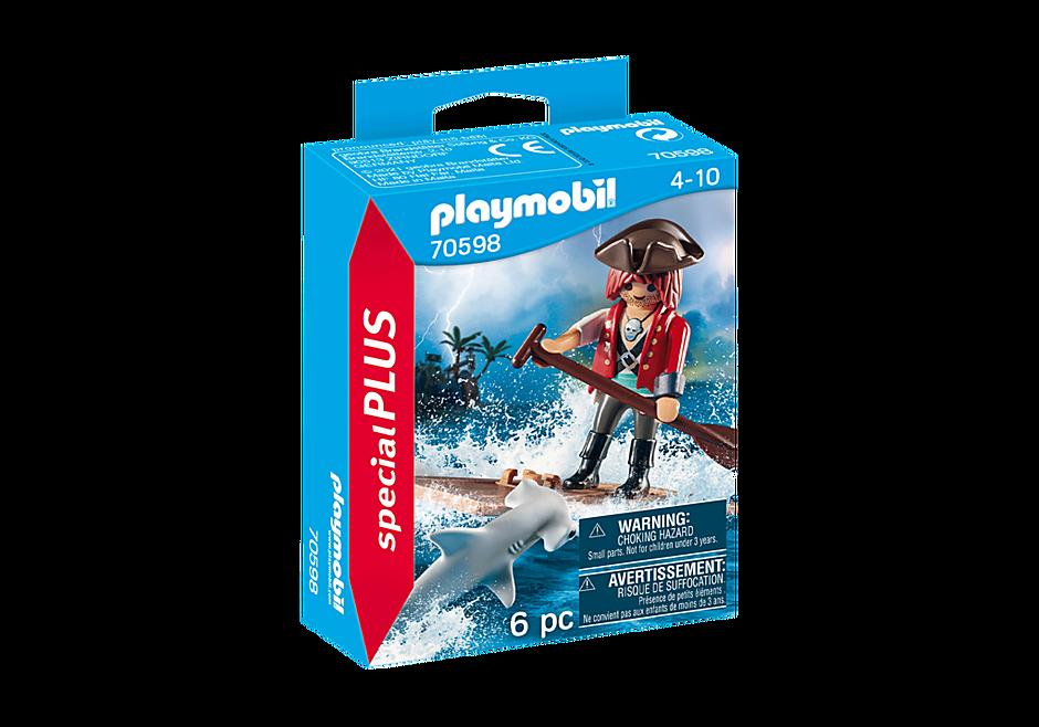 70598 Pirat mit Floß und Hammerhai detail image 2