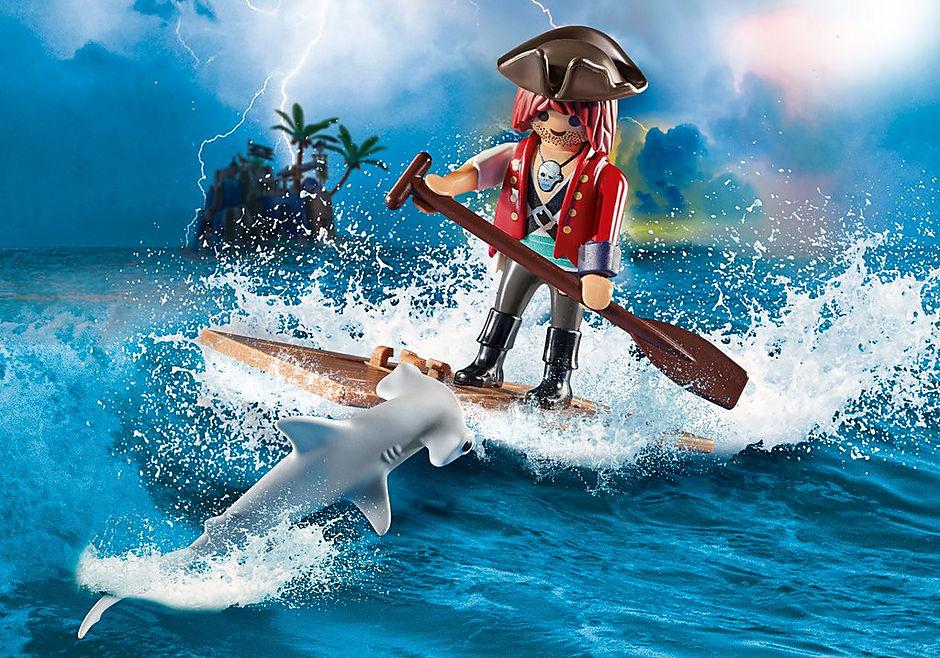 70598 Pirat med tømmerflåde og hammerhaj detail image 1