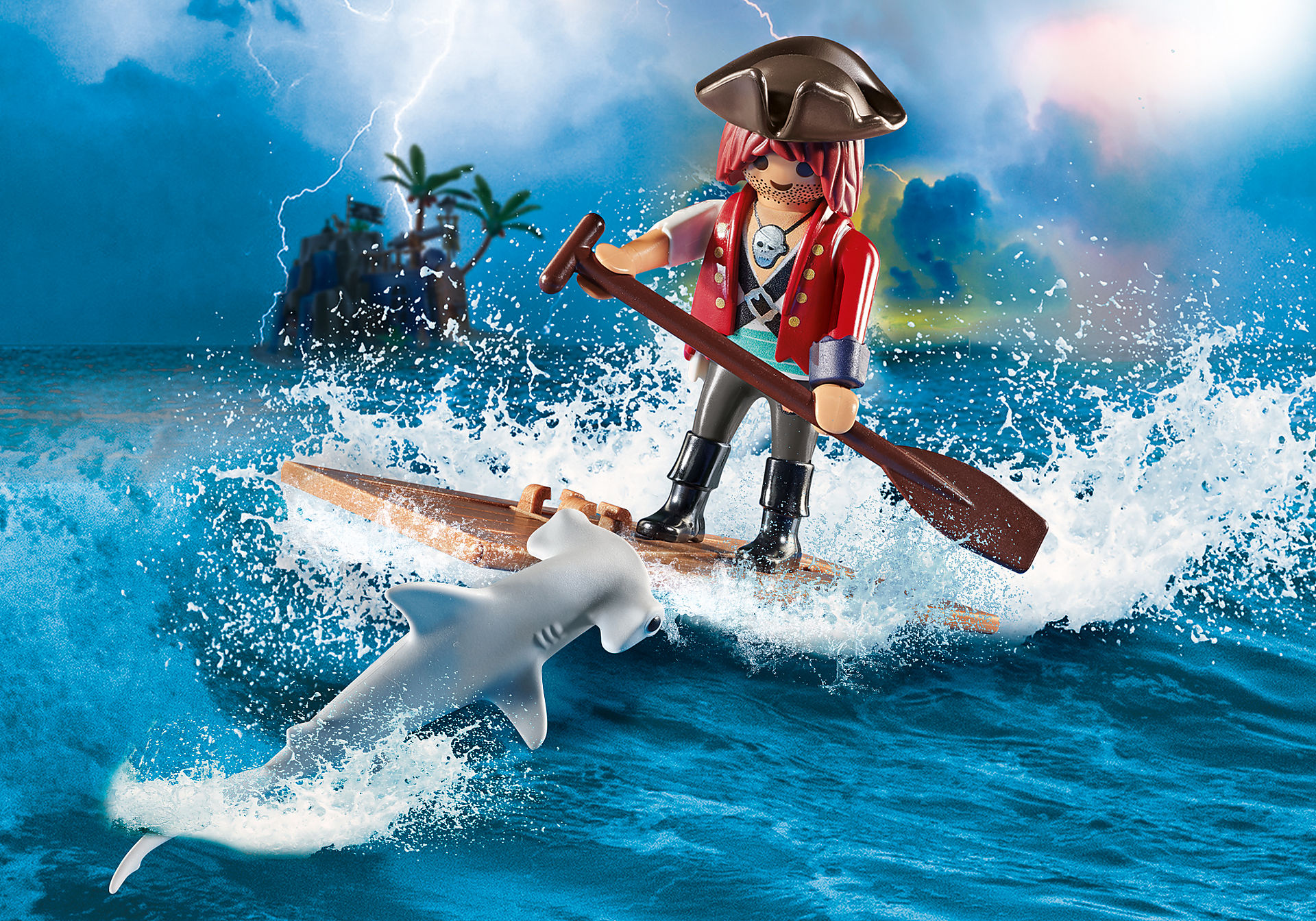 70598 Pirate with Raft zoom image1