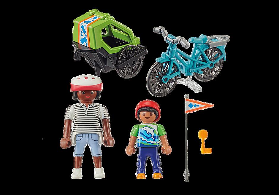 70601 Cyclistes maman et enfant  detail image 3