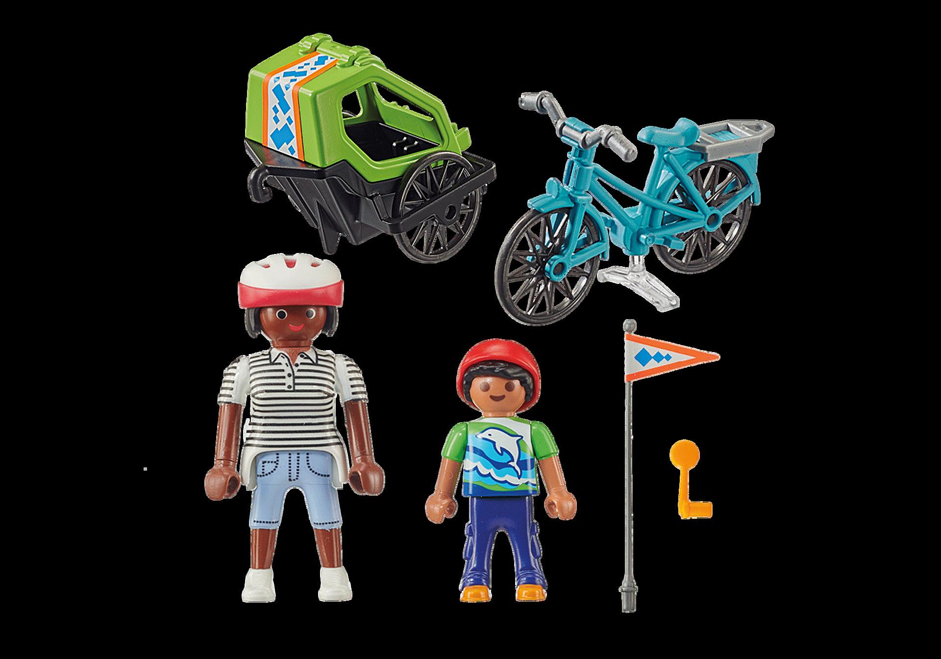 70601 Cyclistes maman et enfant  zoom image3