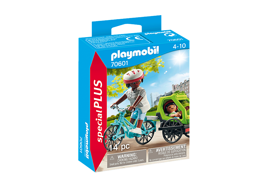 70601 Cyclistes maman et enfant  detail image 2