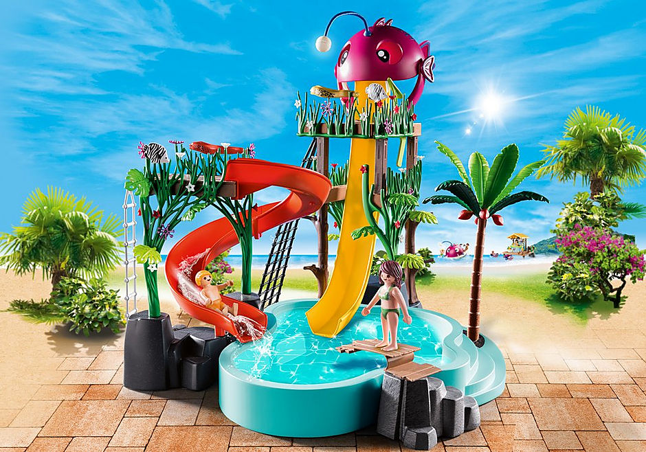 70609 Waterpark met glijbanen detail image 1