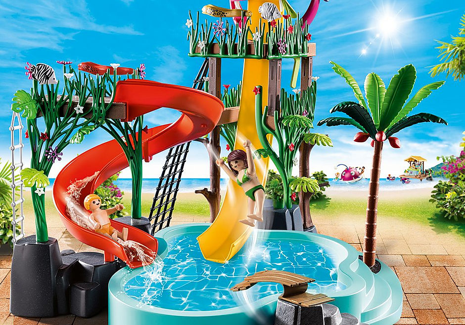 70609 Waterpark met glijbanen detail image 4