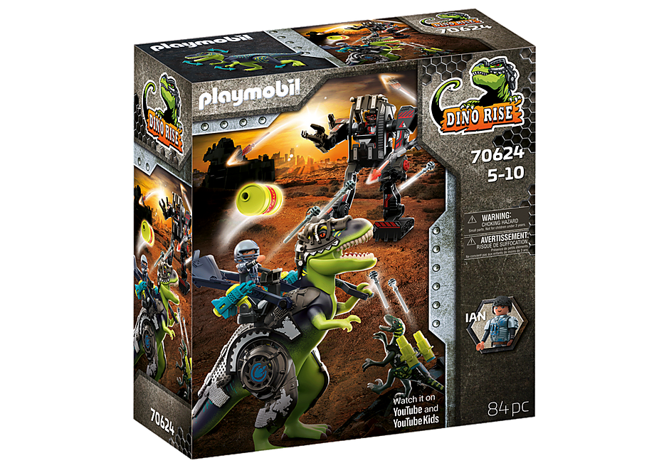 70624 Tyrannosaure et robot géant detail image 3