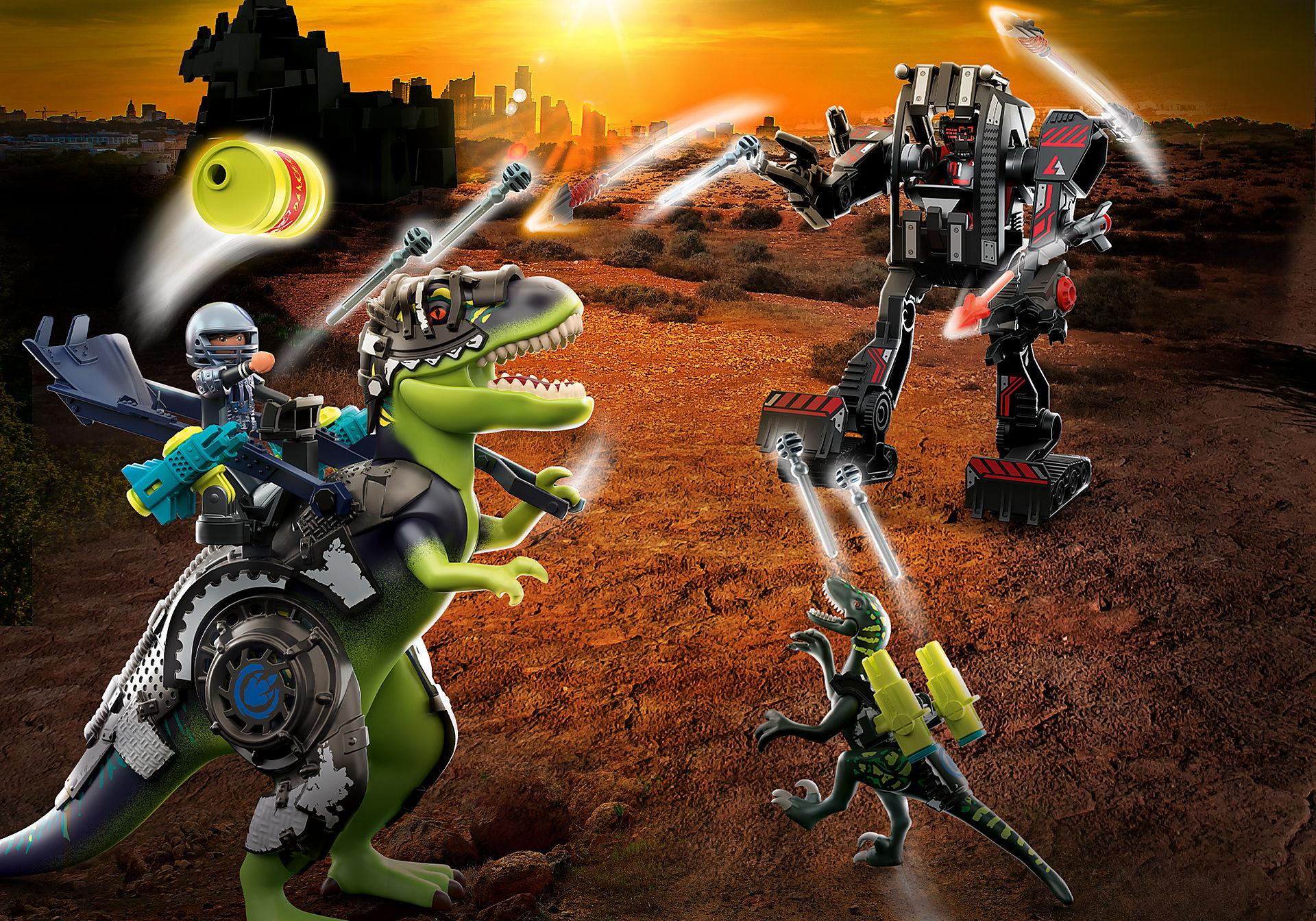 70624 Tyrannosaure et robot géant zoom image1