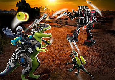 70624 Tyrannosaure et robot géant