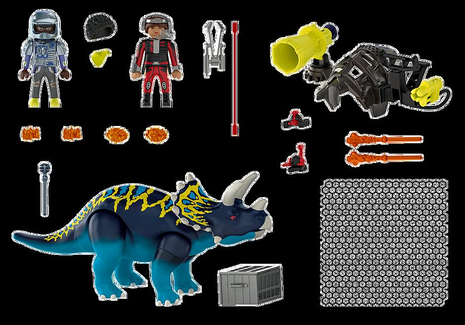 70627 Triceratops et soldats detail image 4