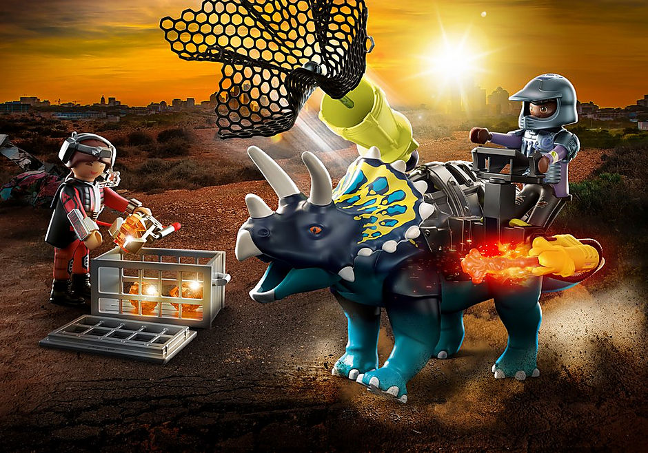 70627 Triceratops et soldats detail image 1