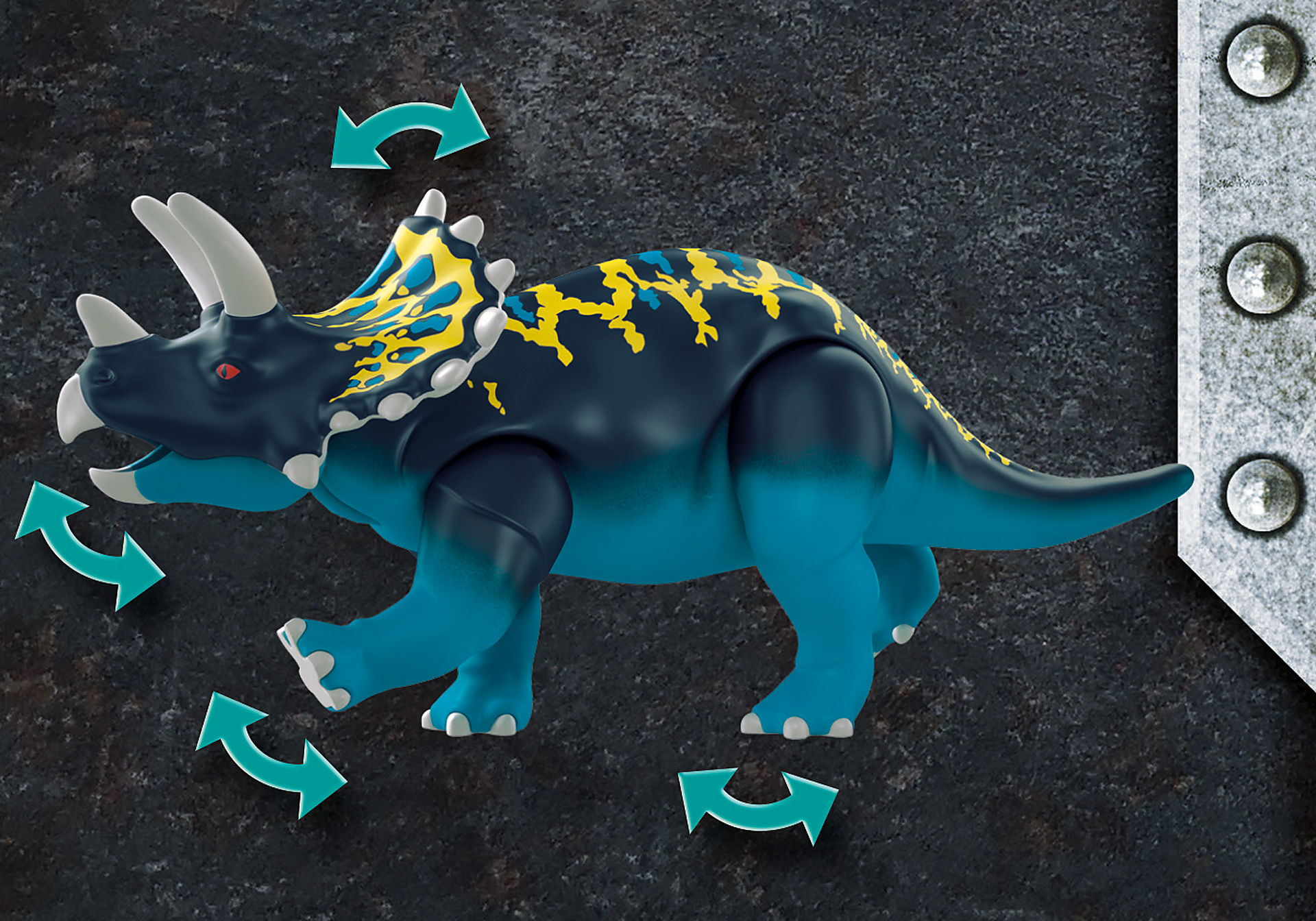 70627 Triceratops et soldats zoom image5